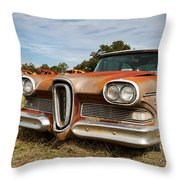 Old Edsel Throw Pillow