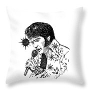 Old Elvis Throw Pillow