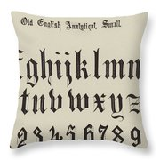 Old English Analytical, Small Throw Pillow
