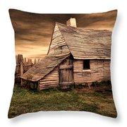 Old English Barn Throw Pillow