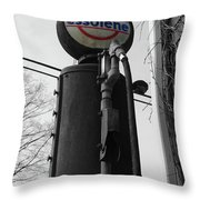 Old Essolene Pump Throw Pillow