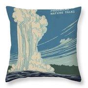 Old Faithful At Yellowstone Throw Pillow
