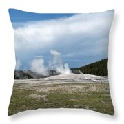 Old Faithful Before Throw Pillow