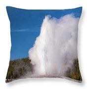 Old Faithful Eruption Two Throw Pillow