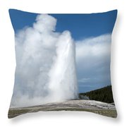 Old Faithful Erupts Throw Pillow