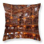 Old Faithful Lodge Throw Pillow