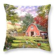 Old Farm House Variant 1 Throw Pillow