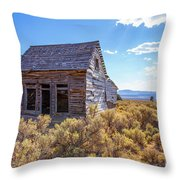 Old Farm House Widtsoe Utah Ghost Town Throw Pillow
