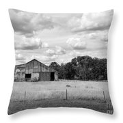 Old Farm Scene Throw Pillow