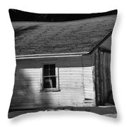 Old Farm Shed Throw Pillow