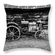 Old Farm Tractor Throw Pillow