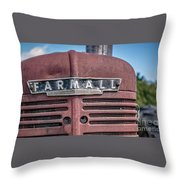 Old Farmall Tractor Grill And Nameplate Throw Pillow