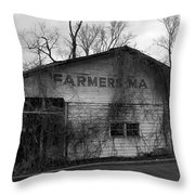 Old Farmer's Market Shed Throw Pillow
