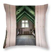 Old Farmhouse Interior Iceland Throw Pillow