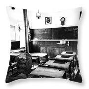 Old Fashion Clasroom Throw Pillow