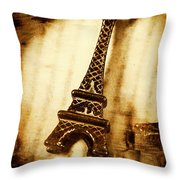 Old Fashion Eiffel Tower Souvenir Throw Pillow