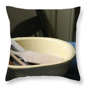 Old Fashioned Baking Tools Throw Pillow