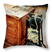 Old Fashioned Dictaphone Throw Pillow by Susan Savad