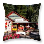 Old Fashioned General Store Throw Pillow