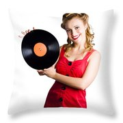 Old Fashioned Music Throw Pillow