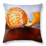 Old Fashioned Orange Throw Pillow