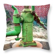 Old-fashioned Pitcher Pump Throw Pillow