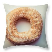 Old Fashioned Sugar Donut Throw Pillow