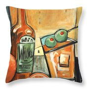 Old Fashioned Sweet With Olives Throw Pillow