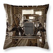 Old Fashioned Tlc Monochrome Throw Pillow
