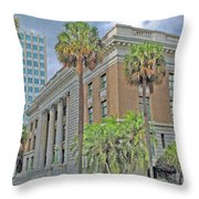 Old Federal Building Throw Pillow