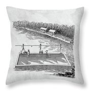 Old Ferryboat Patent Throw Pillow