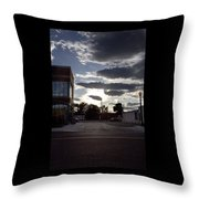 Old Fire House At Sunset - 200370 Throw Pillow