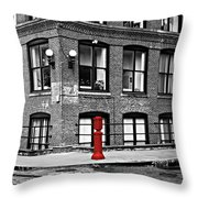 Old Fire Hydrant In Dumbo Brooklyn Throw Pillow