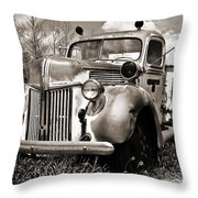 Old Firetruck Throw Pillow