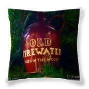Old Firewater Aged In The Woods Throw Pillow