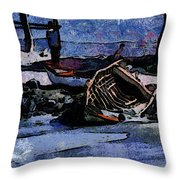 Old Fishboat Throw Pillow