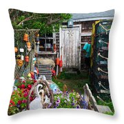 Old Fishing  House 2 Throw Pillow
