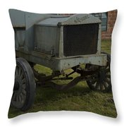 Old Flat Bed Truck Throw Pillow