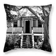 Old Florida Cottage Throw Pillow