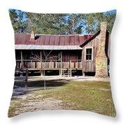 Old Florida Cracker Home Throw Pillow