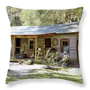 Old Florida Home Throw Pillow