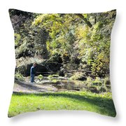 Old Fly Fisherman Throw Pillow