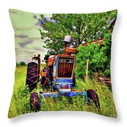 Old Ford Tractor Throw Pillow