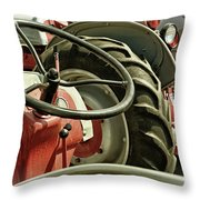 Old Ford Tractors Throw Pillow