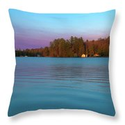 Old Forge Pond Panorama Throw Pillow