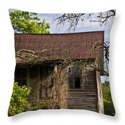 Old Forgotten Farm House Throw Pillow