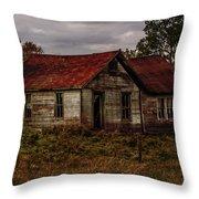 Old Forgotten Farmstead Throw Pillow