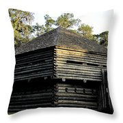Old Fort Foster Throw Pillow