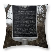 Old Fort Mason Historical Marker Throw Pillow