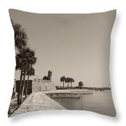 Old Fort, St. Augustine, Florida Throw Pillow